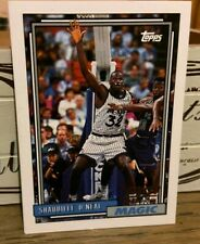 1992/93 Shaquille O'Neal Orlando Magic Topps '92 Draft Pick Rookie Card #362 RC