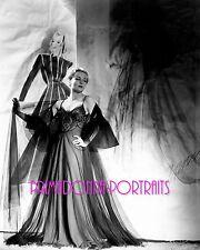 "CAROLE LOMBARD 8x10 Lab Photo B&W 1930s ""IRENE"" Designer Gown, & Sketch Portrait"