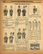 1926 PAPER AD 3 PG Champion A Kingston Mica Splitdorf Spark Plug Plugs