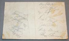 Original 1950 Toronto Maple Leafs & Montreal Royals Baseball Clubs Signed Sheet