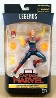 "HASBRO MARVEL LEGENDS SERIES 6"" inch CAPTAIN MARVEL BINARY FORM Exclusive"