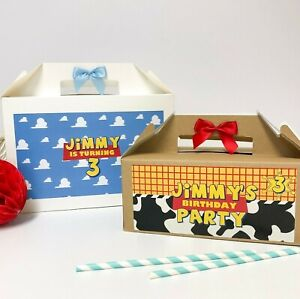 TOY STORY BIRTHDAY PARTY BOX | PERSONALISED | FAVOUR 1ST BIRTHDAY GIFT BOXES