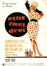Eins Zwei Drei ORIGINAL A1 Kinoplakat Billy Wilder / James Cagney / H. Buchholz