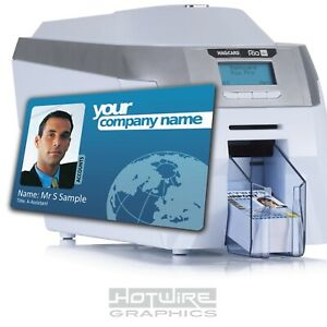 Custom Printed ID Card - Company STAFF MEMBERSHIP - Plastic PVC Business SINGLE