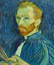 Vincent Van Gogh Self Portrait Oil Painting Wall Art Real Canvas Print New