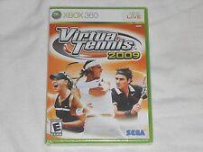 NEW Virtua Tennis 2009 XBox 360 Game SEALED Sega virtual tenis 09 sports US NTSC