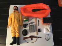 Vintage 1964 1970s Era GI Joe Adventure Team Action Figure With Accessories Lot