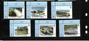 Alderney 2015 Forts set MNH