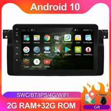 8'' Android 10.0 Autoradio Navi BT GPS 2 DIN AUX für BMW E46 M3 SWC DAB+Mic Cam