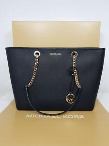Michael kors bag Shania Black Chain Tote Leather RRP 280