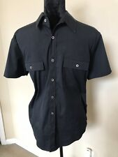 THEORY Black Stretch Cotton Short Sleeve size m