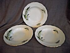Set of 3 Melba Lily of the Valley Rim Soup Bowls