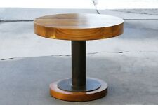 Walnut Slab Steel Side Table by Rehab Vintage Interiors, Custom Made to Order