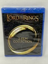 The Lord of The Rings Theatrical Versions 3-Film Collection Blu-Ray New