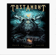 TESTAMENT - DARK ROOTS OF EARTH - WOVEN PATCH - BRAND NEW - MUSIC 2684
