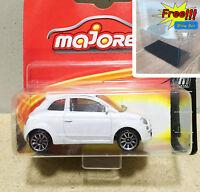Majorette Fiat 500 White Diecast Metal 1/55 286C Free Display Box