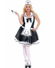 Plus Size Elegant French Maid Costume - Music Legs 70633Q