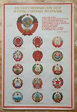 Original Art Poster The State Emblem of the Soviet Union The Hammer and Sickle