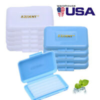 US Dental Orthodontic Wax Gum Irritation 2 Flavors for Bracket Braces Blue/white