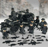SWAT Military ww2 Lego Black Jeep Teams Figure Set City Police Weapon Block LEGO