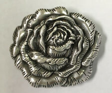 "WESTERN LEATHER CRAFT TACK ANTIQUE ENGRAVED ROSE FLOWER CONCHOS 1-3/4"" x 1-1/2"""