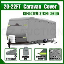 Heavy Duty 20-22ft Waterproof 4 Layer Caravan Campervan Cover w/ UV Carry Bag