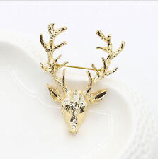 NEW AU TI Pin Elk Brooch Designer Brand S6S Vintage Clothe Jewelry For Men Women