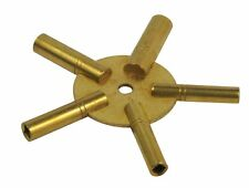 New Brass Universial Clock Key for Winding Clocks 5 Prong EVEN Number US SHIPPER