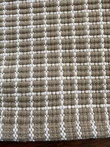 Dash & Albert GRIDIRON WHEAT INDOOR/OUTDOOR RUG  Rug 4' x 6' 100% POLYPROPYLENE