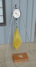Vintage Mercantile Chatillon 4200 Round Face 30 lb Hanging Fish Scale w/ Stand