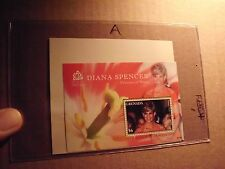 Grenada Sheetlet Princess Of Wales Diana Spencer $6 Memorial Red dress gown Coa