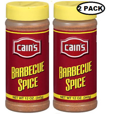 Cain's Barbecue Spice (2 bottle/12 oz Ea steak chicken fish seasoning