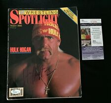 HULK HOGAN SIGNED WWE SPOTLIGHT MAGAZINE JSA AUTHENTICATED