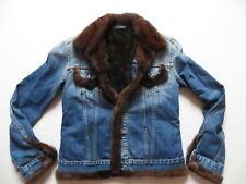 Levi's Damen Jeans Jacke Gr. M, kuschelig weich & warm Fell gefüttert, UNIKAT !