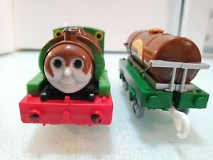 Thomas friends trackmaster motorized chocolate covered Percy 2006