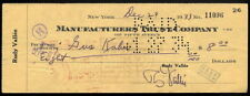 GUS KAHN IT HAD TO BE YOU COMPOSER AUTOGRAPHED CHECK FROM 1933 RARE