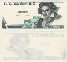Test note Proof Note Specimen De La Rue Giori S.A Beethoven