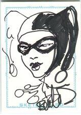 Harley Quinn Card Art - 2006 Signed art by Joe Benitez Comic Art