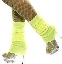 femmes années 80 année 1980 tricoté déguisement danse jambières jaune neuf de