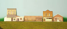 HO scale 4 BRICK BUILDINGS background building flat