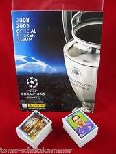 Panini ligue des champions 2008/2009 jeu complet + album = tous les autocollants CL 08/09