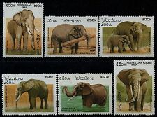 LAOS N°1275/1280** Elephants, 1997, Set MNH