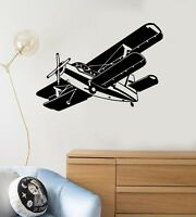 Vinyl Wall Decal Airplane Kids Boy Room Gift for Son Child Art Stickers (ig5078)
