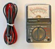 Vintage Radio Shack Micronta 8-Range Multimeter 22-212B w/ Cables & Box