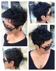 US Stock Short Curly Black Synthetic Hair Heat Resistant Cosplay Wigs free cap