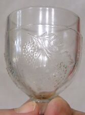 Vintage Clear EAPG Wine Glass with Grape Pattern