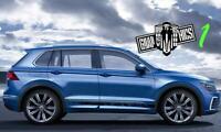 Aufkleber Decal Stripes für VW Tiguan 2006-2021 Aufklebers Racingstreifen