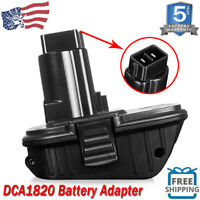 DCA1820 18/20V Lithium Convert To Nickel Charger Tool Adapter for Dewalt Battery