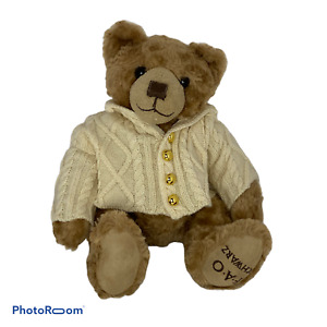 "🍊 12"" FAO Schwarz Collector TEDDY BEAR Plush Sweater Stuffed Animal Toy 2017"