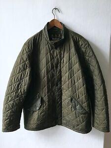 Barbour MQU0007OL52 FLYWEGHT CHELSEA Quilt Jacket Coat men's size XL